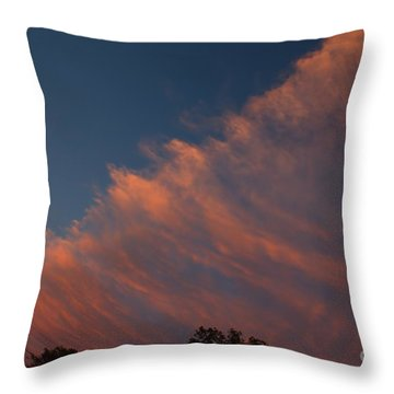 Throw Pillow featuring the photograph Cloud Front At Sunset by Kenny Glotfelty
