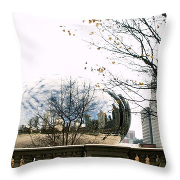 Cloud Gate - 1 Throw Pillow by Ely Arsha