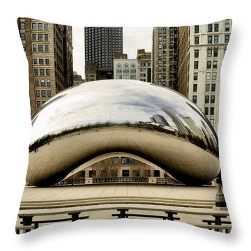 Cloud Gate - 3 Throw Pillow by Ely Arsha