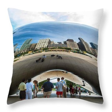 Cloud Gate Aka Chicago Bean Throw Pillow