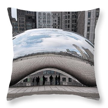 Cloud Gate Throw Pillow