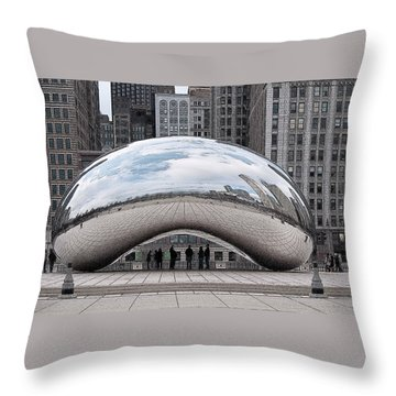 Throw Pillow featuring the digital art Cloud Gate by John Dyess