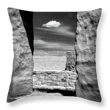 Throw Pillow featuring the photograph Cloud In The Window by James Barber