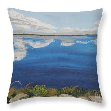 Cloud Lake Throw Pillow by Annette M Stevenson