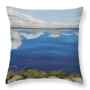 Cloud Lake Throw Pillow