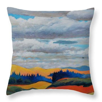 Cloud Lines Throw Pillow
