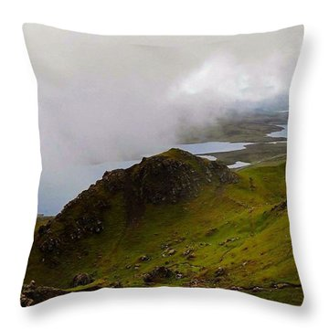 Cloud Lying Low On The Hills Of Skye - Throw Pillow
