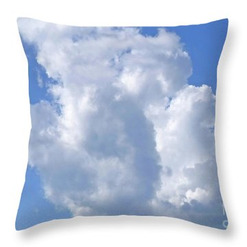 Throw Pillow featuring the photograph Cloud M1 by Francesca Mackenney