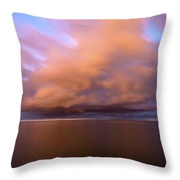 Cloud Motion At Dawn  Throw Pillow
