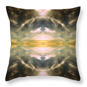 Throw Pillow featuring the photograph Cloud No.3 by Keith McGill