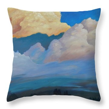 Throw Pillow featuring the painting Cloud On The Rise by Gary Coleman