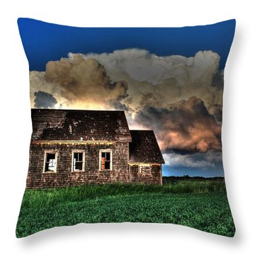 Cloud Over One Room School Throw Pillow