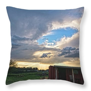Cloud Portal Throw Pillow