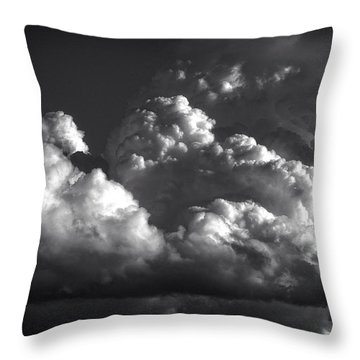 Cloud Power Over The Lake Throw Pillow by John Norman Stewart