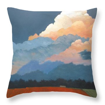 Cloud Rising Throw Pillow
