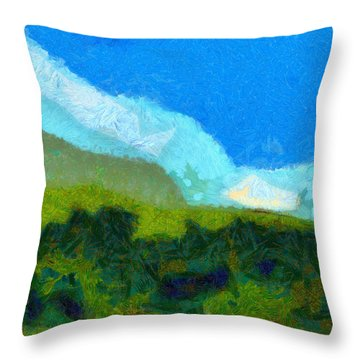 Cloud River Throw Pillow