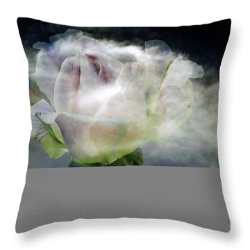 Cloud Rose Throw Pillow by Clayton Bruster