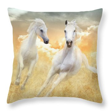 Throw Pillow featuring the photograph Cloud Runners by Melinda Hughes-Berland