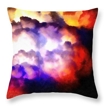 Cloud Sculpting 1 Throw Pillow