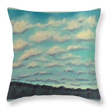 Cloud Study Cropped Image Throw Pillow