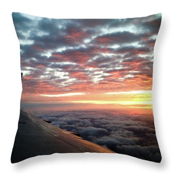 Cloud Sunrise Throw Pillow