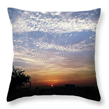 Cloud Swirl At Sunrise Throw Pillow