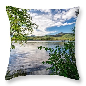 Throw Pillow featuring the photograph Cloud Swirl Mt. Chocorua Nh by Michael Hubley