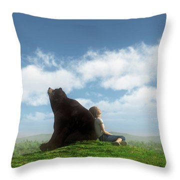 Cloud Watchers Throw Pillow by Cynthia Decker