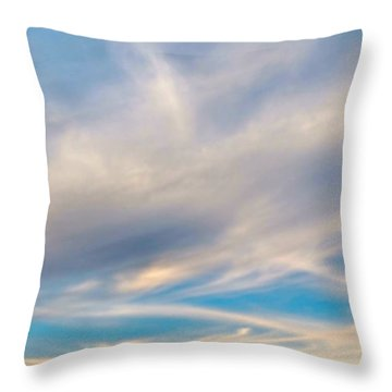 Cloud Wisps Throw Pillow