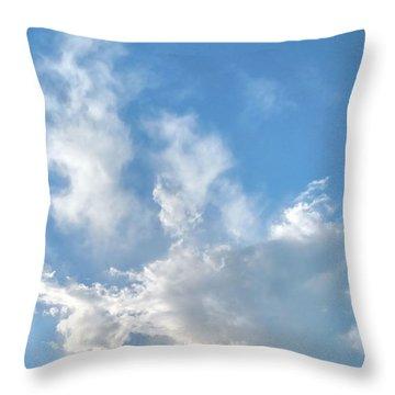 Cloud Wisps Too Throw Pillow
