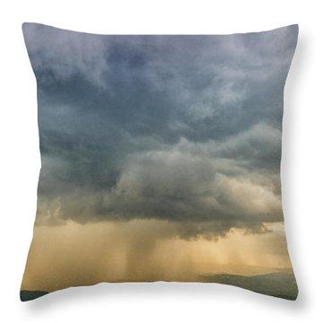 Storm Clouds - Blue Ridge Parkway Throw Pillow
