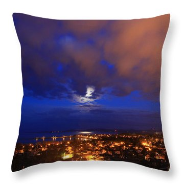 Clouded Eclipse Throw Pillow