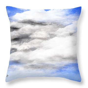 Clouds 2 Throw Pillow by Walter Chamberlain