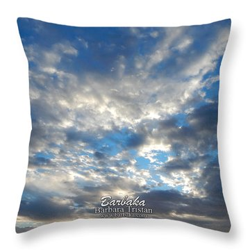 Clouds #4049 Throw Pillow by Barbara Tristan