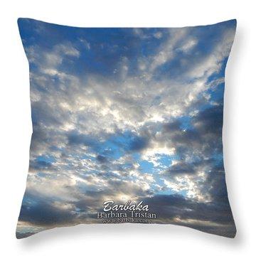 Clouds #4049 Throw Pillow