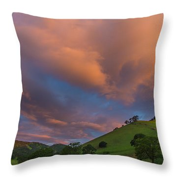 Clouds Above Round Valley At Sunrise Throw Pillow by Marc Crumpler