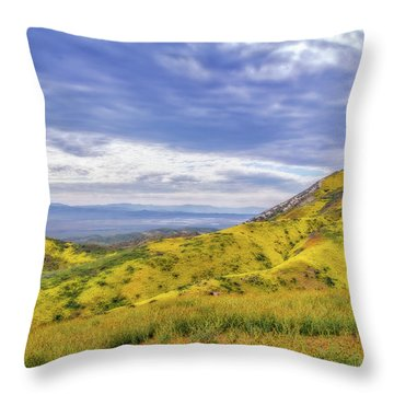 Throw Pillow featuring the photograph Clouds Above Temblor Range by Marc Crumpler