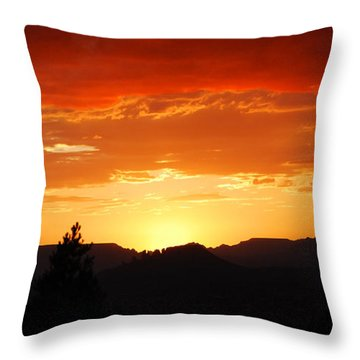 Throw Pillow featuring the photograph Clouds Afire by Howard Bagley