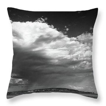 Clouds Along Indian Route 13 Throw Pillow by Monte Stevens