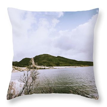 Clouds And Calm Waters Throw Pillow