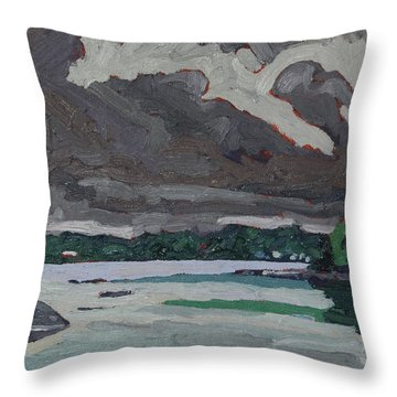 Clouds And Drizzle Throw Pillow