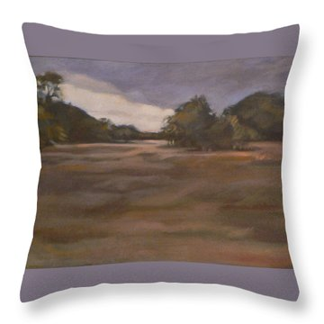 Clouds And Fields Throw Pillow