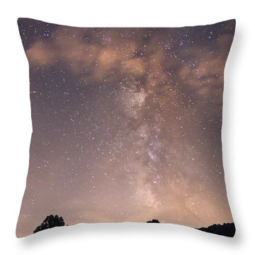Throw Pillow featuring the photograph Clouds And Milky Way by Wanda Krack