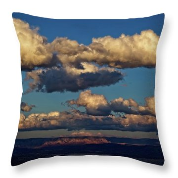 Clouds And Red Rocks Hdr Throw Pillow