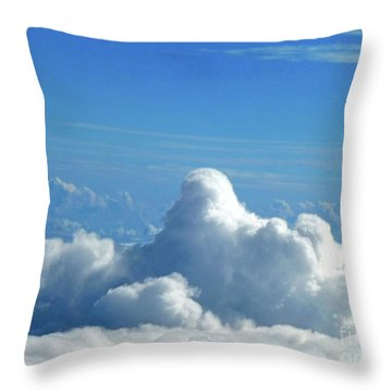 Throw Pillow featuring the photograph Clouds And Sky M3 by Francesca Mackenney