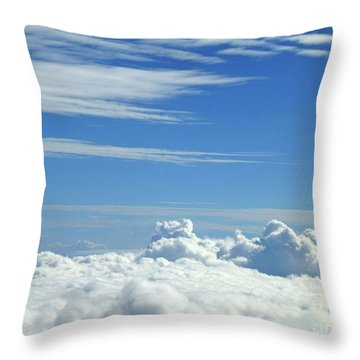 Throw Pillow featuring the photograph Clouds And Sky M4 by Francesca Mackenney
