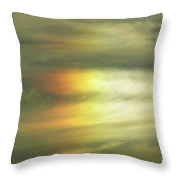 Clouds And Sun Throw Pillow