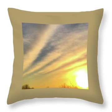 Clouds And Sun Throw Pillow