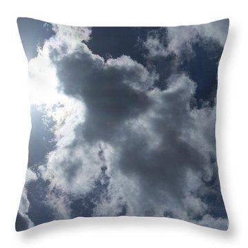 Throw Pillow featuring the photograph Clouds And Sunlight by Megan Dirsa-DuBois