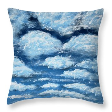 Throw Pillow featuring the painting Clouds by Antonio Romero